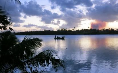 Paisaje que nuestros voluntarios disfrutan mientras aprenden inglés en Fiyi.